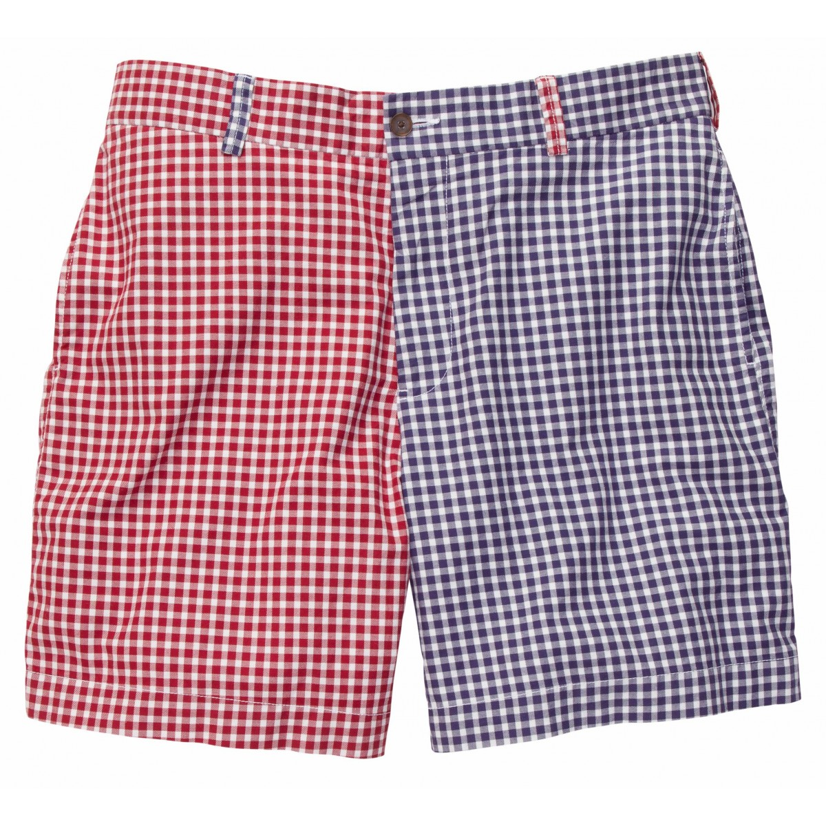 Club Short - Navy/Madras Red Gingham